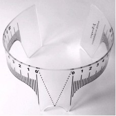 Ruler for eyebrow shape symmetry
