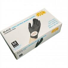 Gloves Vinyl / Nitrile Black 100pcs. M